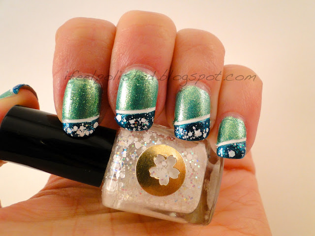 Blue and Green Mani