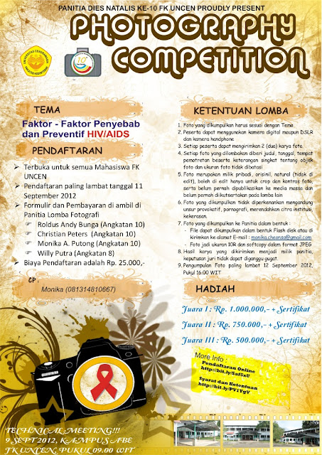 PHOTOGRAPHY COMPETITION (Dies Natalis Ke-10 Kedokteran Uncen)
