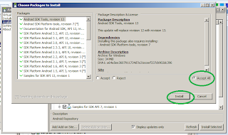 Install Available Android SDK packeges