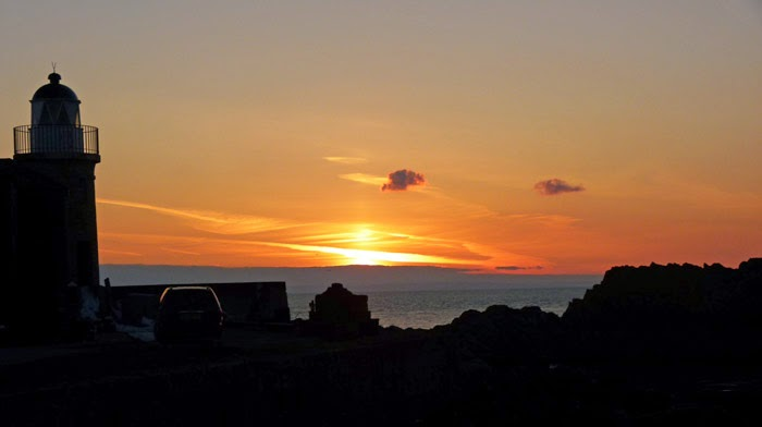 Portpatrick harbour, Dumfries and Galloway, sunset