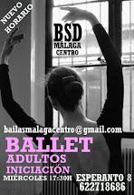 BALLET ADULTOS. NUEVO CURSO PARA PRINCIPIANTES EN BSD MÁLAGA CENTRO.
