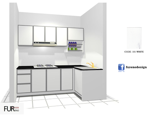 Apartment Ppr Kitchen Set Fureno Design