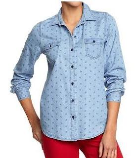 anchor shirt chambray