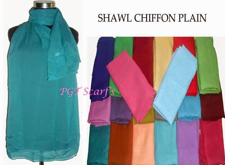 Plain Chiffon Pashmina Sifon Polos