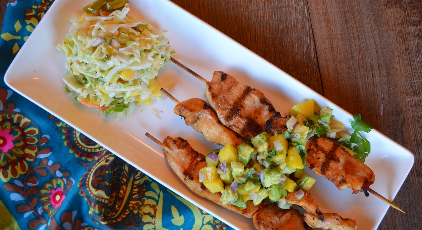 Paleo Girl's Kitchen: Ginger Chicken with Simple Mango Salsa