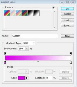Layer > Layer Style > Gradient Overlay