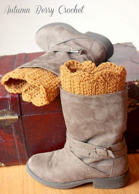 Brooklyn Boot Cuffs Free Crochet Pattern : Tales of a Crafty Mommy: Crochet Boot Cuffs - Free ...