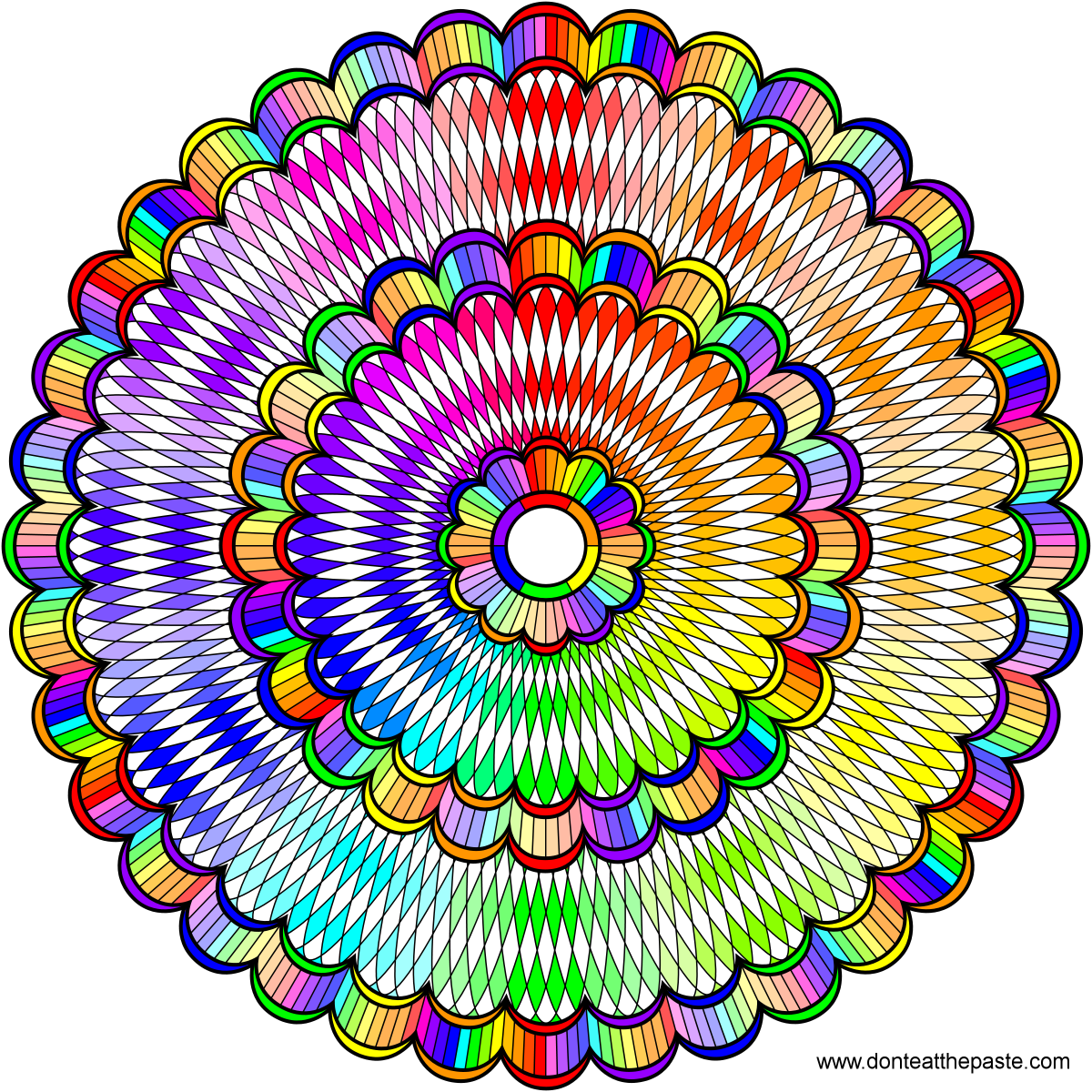 Dont Eat The Paste Intricate Mandala To Color