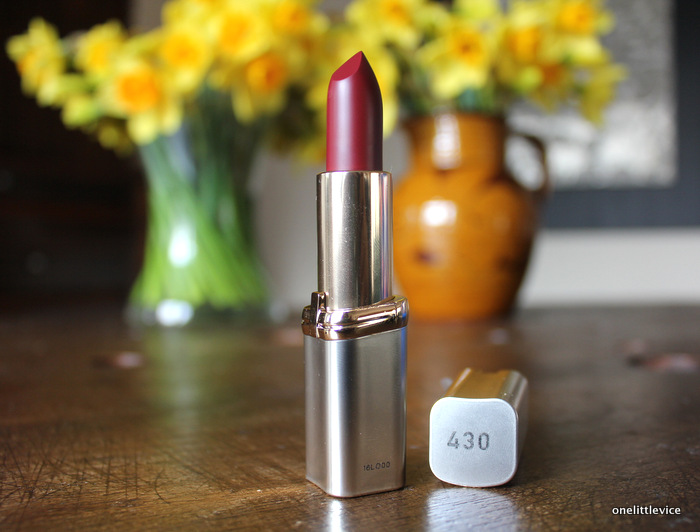 one little vice beauty blog: drugstore matte berry lipstick comfortable to wear