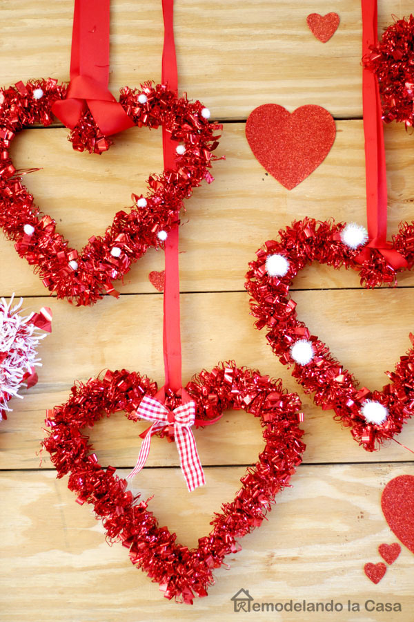 dollar tree valentine decor - inexpensive - love
