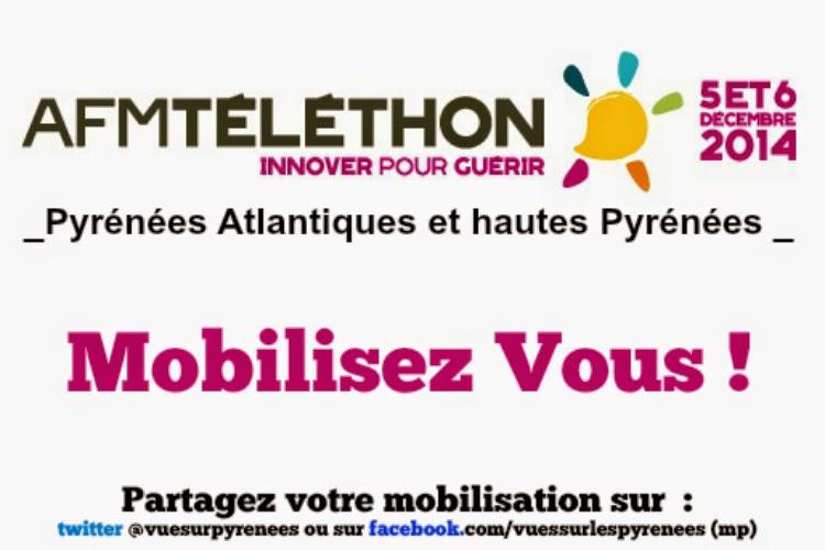 Téléthon 2014  des Pyrénées Atlantiques et des hautes Pyrénées   Béarn, Pays Basque et Bigorre