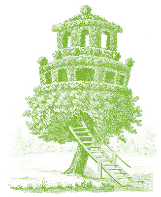 Royalty Free Images  Vintage Treehouse Folly