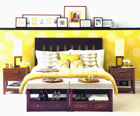 modern retro bedroom interior designs
