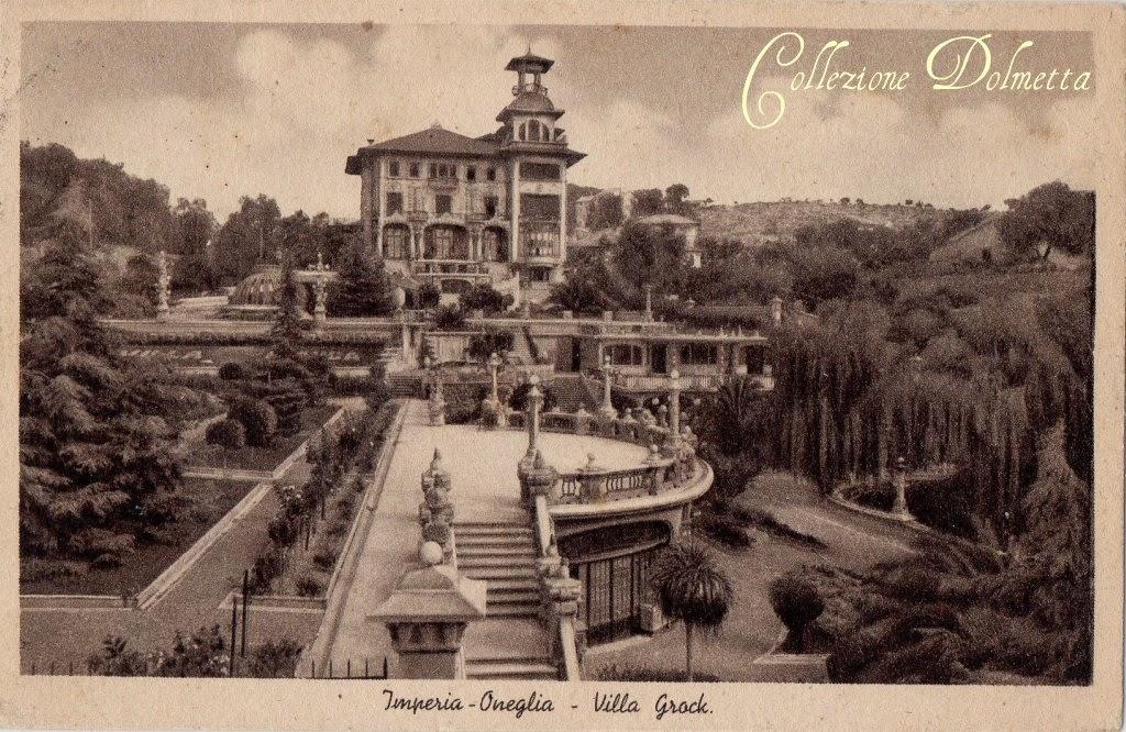 Cartoline d 39 epoca di imperia imperia oneglia villa grook for Oneglia imperia
