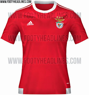 gambar photo Jersey Benfica home musim depan 2015/2016