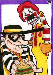 ronald mcdonald, mcdonalds, hamburglar