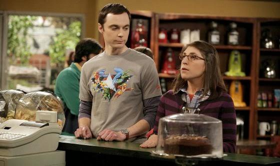 Sheldom y Amy en el café donde tienen su primera cita