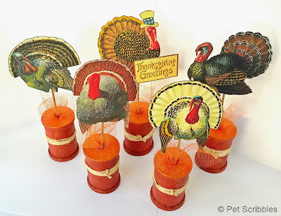 Fall Spool Craft: Make Your Own Vintage Thanksgiving Turkeys