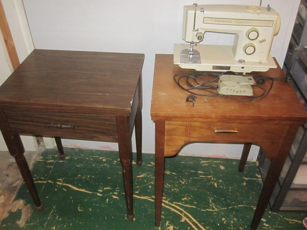 The Valley Woodworker: Swapping sewing machine in cabinets