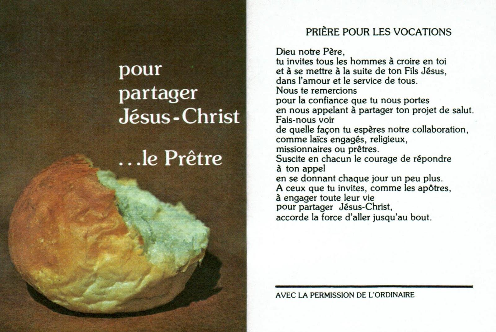 Vocations pri re pour les vocations - Priere pour couper le sang ...