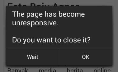 Cara Perbaiki The pages have become unresponsive di Android