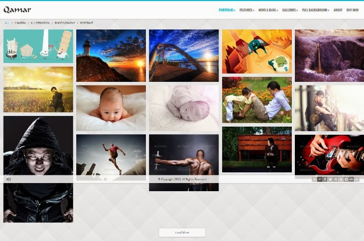Qamar - AJAX Portfolio WP Theme for Photographers