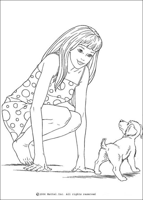 Print And Coloring Page Barbie For Kids