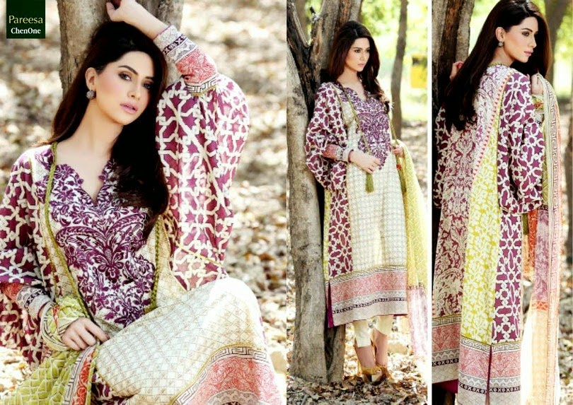 Pareesa Lawn Summer Dresses Second Edition
