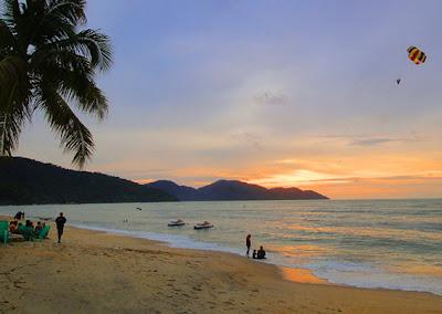 Batu Ferringhi beach at sunset