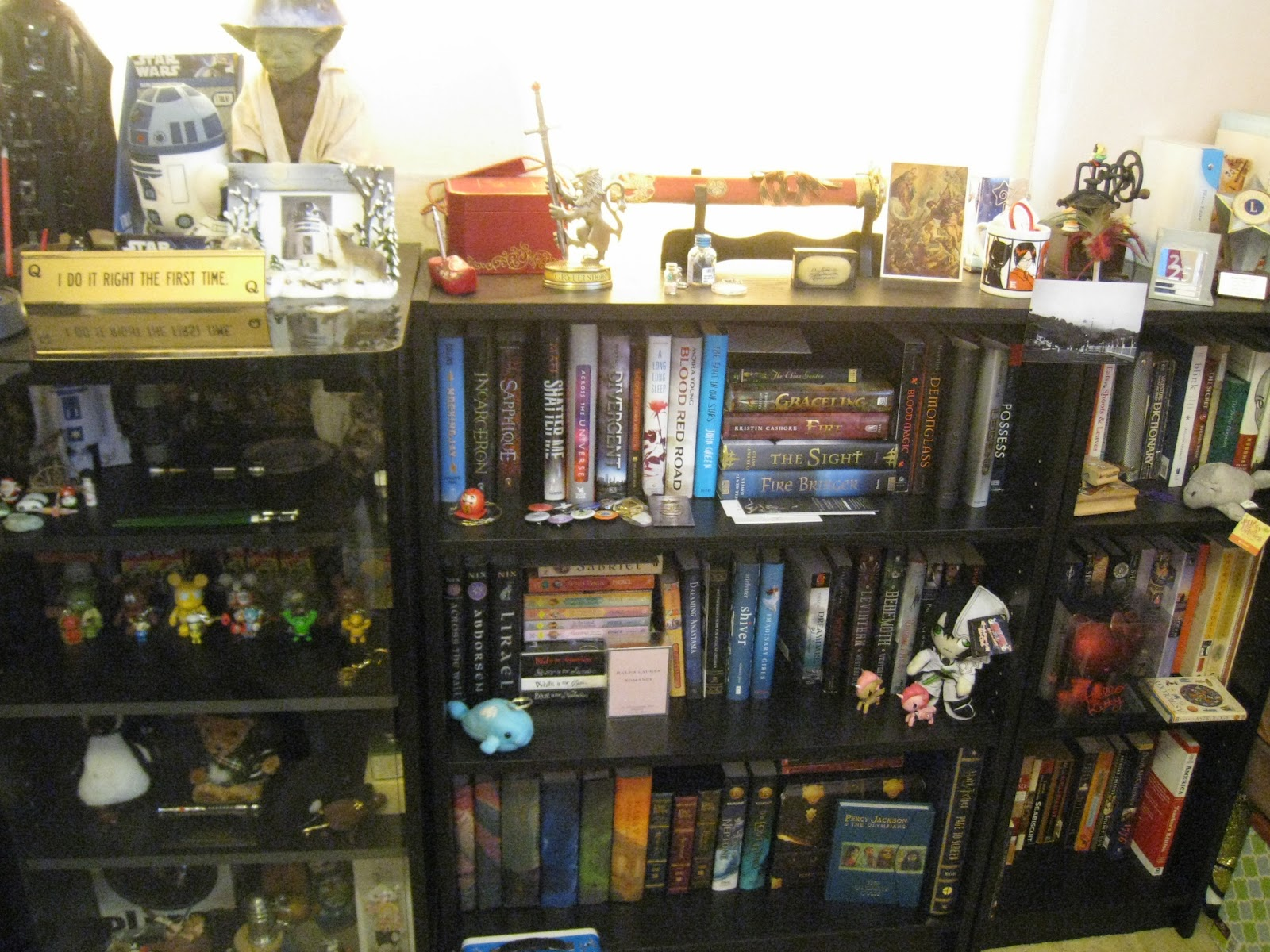 Glass Fronted Case On Left Is What Sis And I Call Our Nerd Geek Cabinet