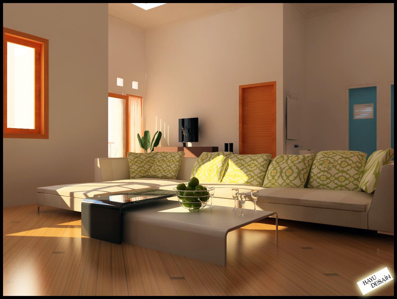 desain interior ruang tamu modern rumah minimalis 2015