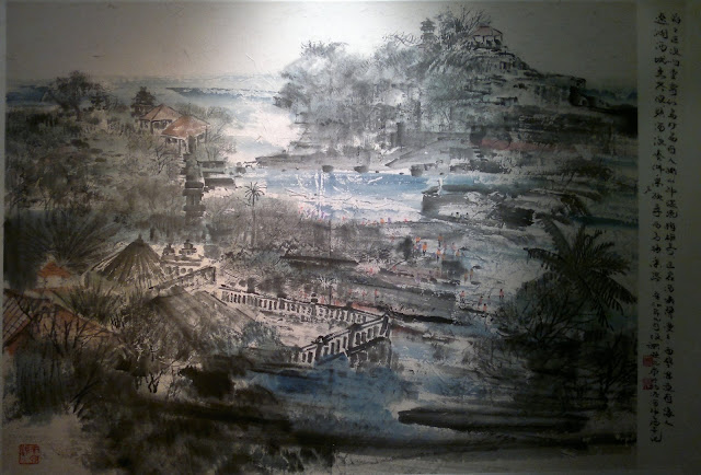 Bali Temple Island, Natural Impressionism, Stephen Leong Chun Hong, Societe Generale Gallery, Alliance Francaise de Singapour, Singapore, 1 Saskies Road
