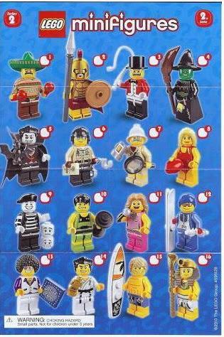 The Minifigure Collector Lego Minifigures Series 2 Rarity