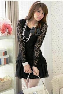 Model Baju Dress Lengan Panjang Anak Remaja ala Korea