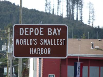 Depoe Bay World's Smallest Harbor sign