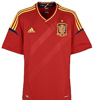 Euro 2012 Spain Home Jersey