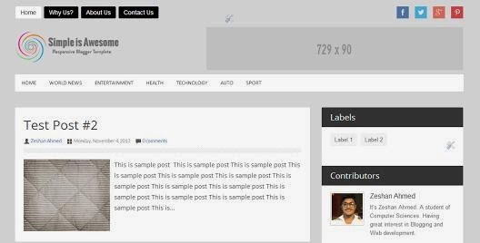 Simply Awesome Blogger Template