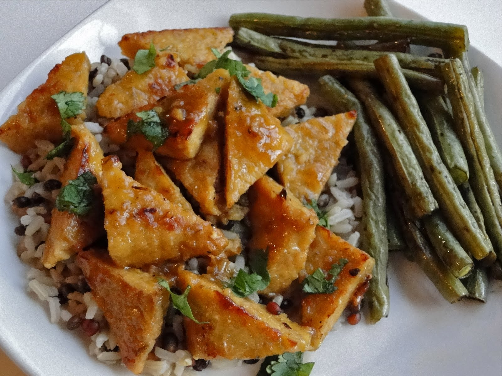 pan glazed tempeh with orange pan glazed tempeh orange pan glazed ...