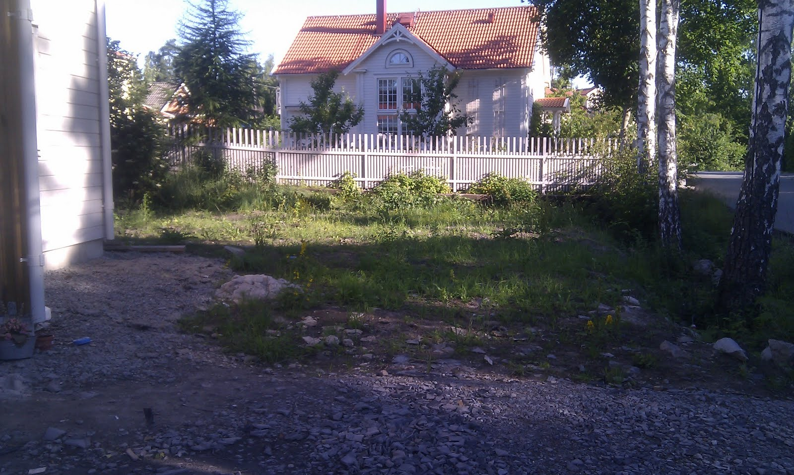 Villa lahäll: markarbeten