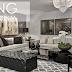 Sala decorada em tons de cinza com estilo clássico e contemporâneo linda!