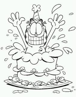 Dibujos de Cumpleaños para Pintar, parte 5