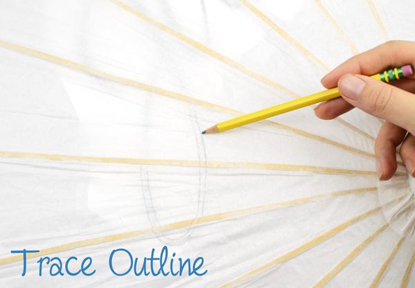 diy, painted, wedding, parasol, tutorial, paper parasol, umbrella