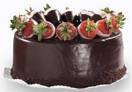 Chocolate Ganache Cake With Strawberry