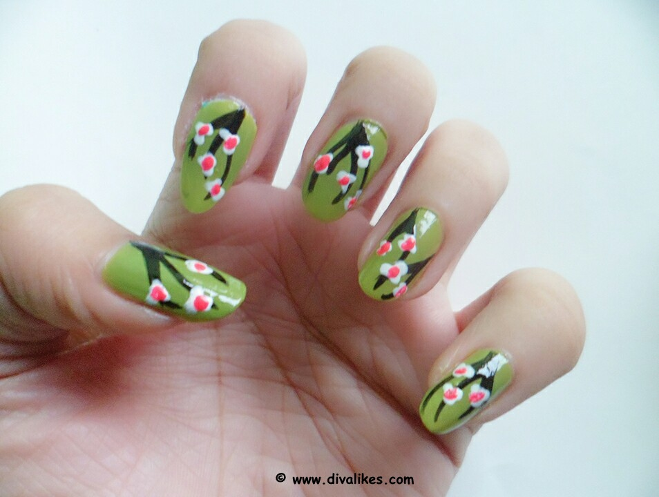 Cherry Blossom Nail Art Tutorial | Diva Likes