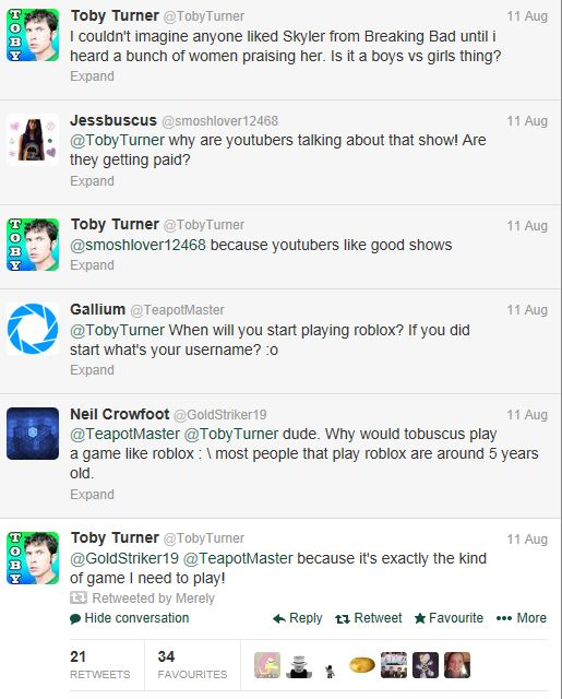 Unofficial Roblox Toby Turner Tobuscus Plays Roblox