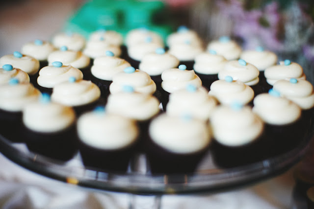 Black Velvet Wedding Cupcakes