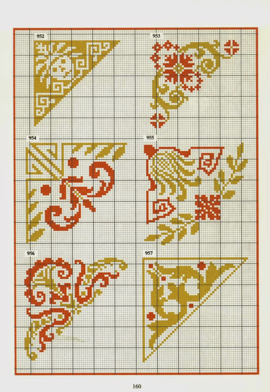 Схемы для вышивки в углов