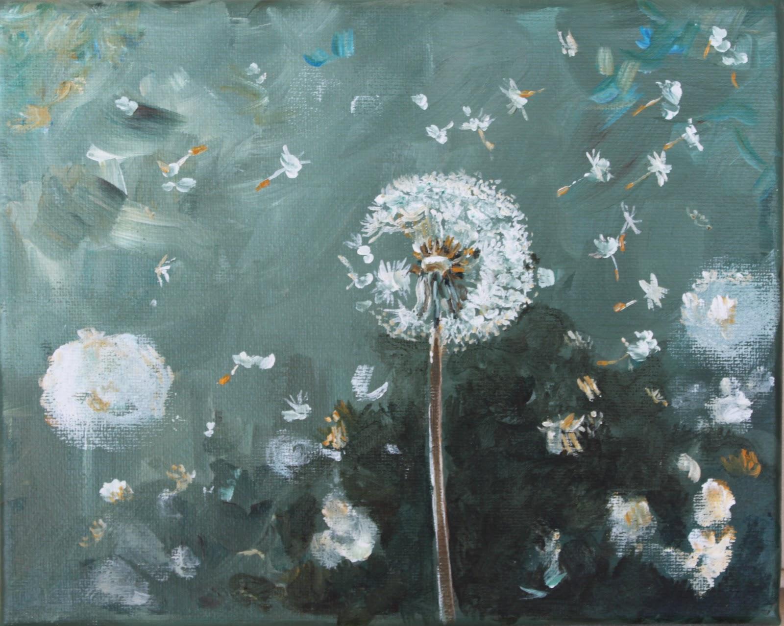michelle lake artist  dandelion wishes