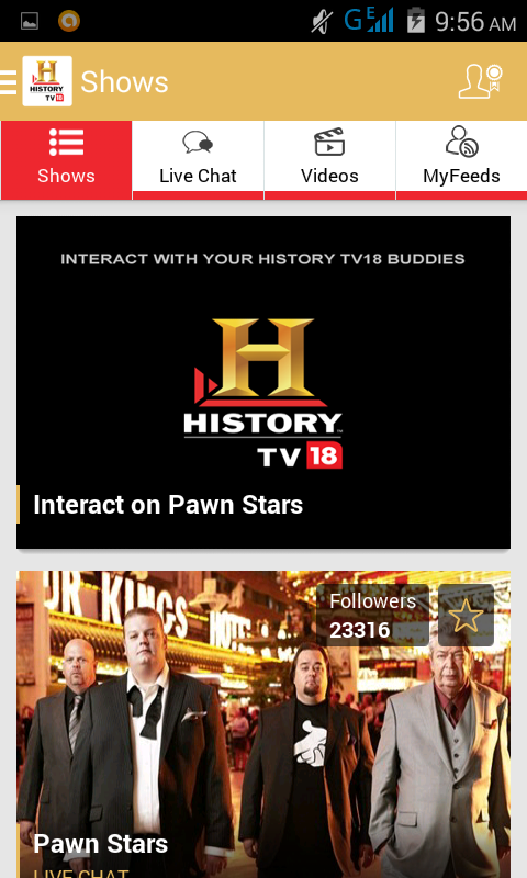 Rs 20 free recharge from History Tv18 android app