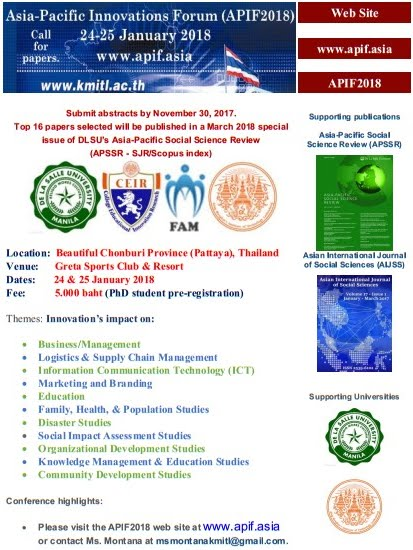 APIF2018 Call for Papers-Pattaya, Thailand